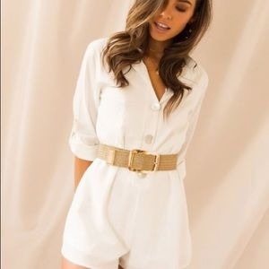 White button playsuit